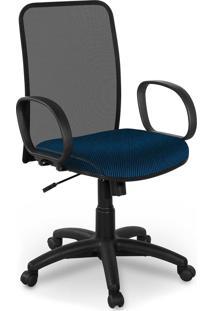 Cadeira Diretor Tela Master Preta Braã§O - Azul - Dafiti