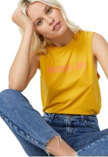T-Shirt Amaro Sound On Amarelo - Amarelo - Feminino - Dafiti