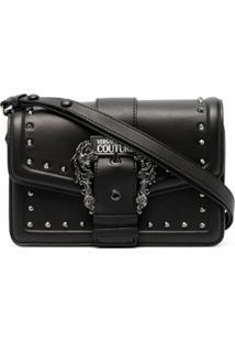 Versace Jeans Couture Bolsa Tiracolo Com Fivela Barroca - Preto