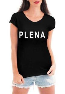 Blusa Criativa Urbana Plena T-Shirt Feminina - Feminino-Preto