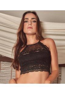Sutiã Feminino High Neck Renda Duloren