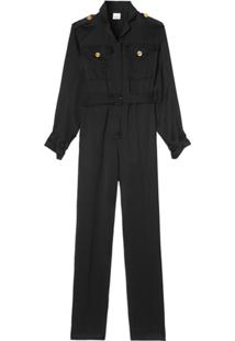 Burberry Belted Jumpsuit - Preto