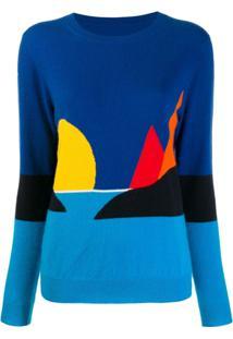 Chinti & Parker Suéter Com Estampa - Azul