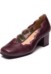 Sapato Em Couro Rosê / Preto Mzq Mzq - Kanui