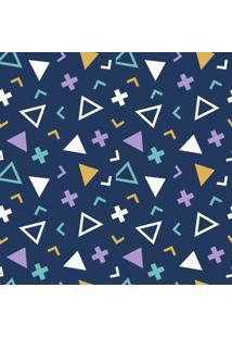 Papel De Parede Geométrico Colorido Em Rolo M4