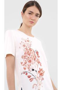 Blusa Dudalina Floral Off-White