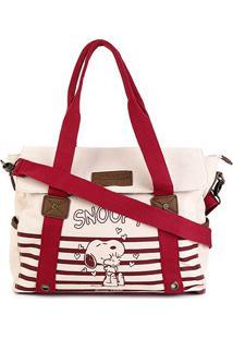 Bolsa Snoopy Tote Bag Grande Feminina - Feminino