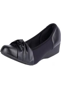Sapato Modare Anabela Elastico Preto 35