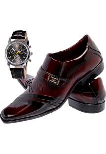 Sapato Social + Relógio Gofer 751 Vermelho