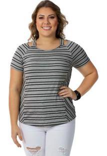 Blusa Feminina Plus Size, Cinza