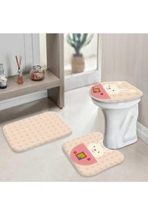 Jogo Tapetes Para Banheiro Páscoa Floral Modern