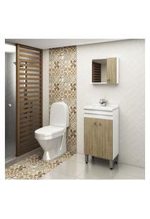 Gabinete Para Banheiro Cartagena 2 Portas Lilies Móveis