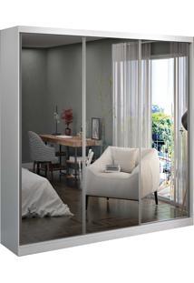 Guarda-Roupa Casal 3 Portas De Correr 3 Espelhos Branco M Foscarini - Branco - Dafiti