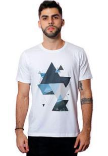 Camiseta Triângulos - Masculino-Branco
