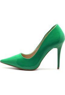 Scarpin Royalz Verniz Salto Fino Penélope Verde