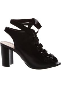 Sandal Boot Block Heel Lace-Up Black | Schutz