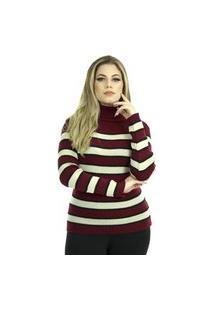 Blusa Laura Iv Feminina Shopping Do Tricô Inverno Lã Gola Alta