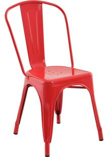 Cadeira Sem Braço Iron-Rivatti - Vermelho