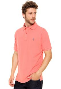 Camisa Polo Mr Kitsch Manga Curta Basic Coral