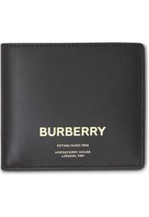 Burberry Carteira International De Couro - Preto