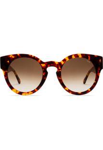Óculos De Sol Livo Eyewear Leah Solar Demi Classico Marrom - Kanui
