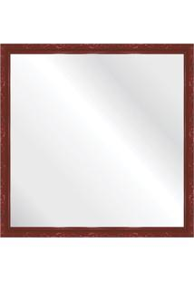 Espelho Brilho Rococo Vermelho 56X56Cm