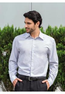 Camisa Cinza Com Botões Frontais
