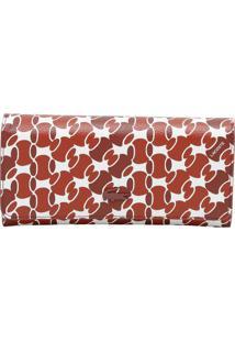Carteira Com Tag - Vermelha & Branca - 11X19X2Cmlacoste