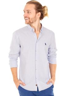 Camisa Side Walk Camisa Xadrez Square Azul