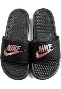 Chinelo Nike Benassi Jdi Slide Feminino - Feminino-Preto+Pink