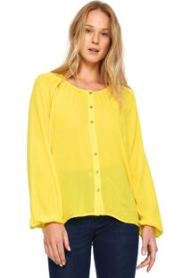 Camisa Amarela Liso feminina   Shoelover 759562b26d
