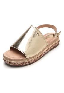 Sandália Dakota Metalizada Dourada