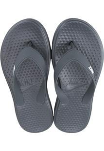 Sandália Nike Solay Thong Masculina - Masculino-Branco+Cinza