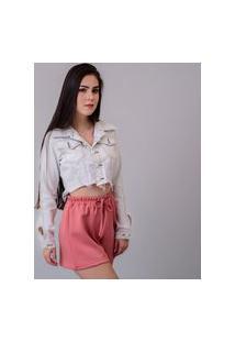 Jaqueta Cropped Jeans Branca