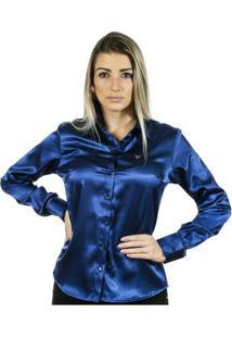 Camisa Pimenta Rosada Nina - Feminino-Azul