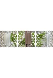 Espelho Love Decor Decorativo Kit Veneziano Único - Kanui