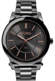 Relógio Euro Assimetric Glam Feminino - Feminino-Grafite
