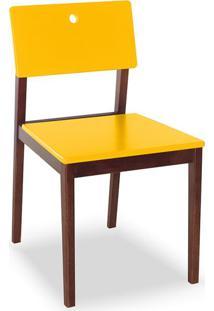 Cadeira Flip I Cacau E Amarelo