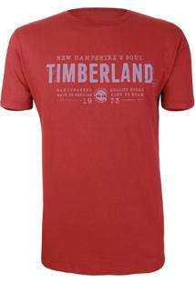 Camiseta Timberland Masculina Nh Soul - Masculino-Vermelho