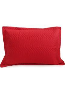 Porta Travesseiro Avulso Matelado - Appel - Vermelho - Tricae
