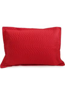 Porta Travesseiro Avulso Matelado - Juma - Vermelho - Tricae