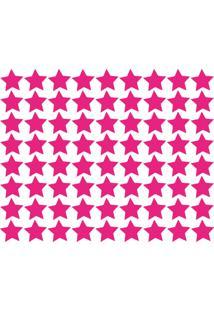 Adesivo De Parede Estrelas Rosa Pink 54Un
