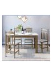 Conjunto De Mesa De Cozinha Com 4 Cadeiras Ameixa Negra E Branco Lilies Móveis