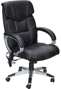 Cadeira Office Massageadora Cartagena-Rivatti - Preto