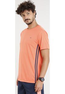 Camiseta Masculina Esportiva Ace Básica Manga Curta Gola Careca Laranja
