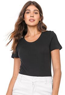 Camiseta Gap Lisa Preta
