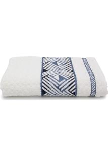 Toalha De Banho Gigante Karsten Norman Fio Penteado 86X150Cm Off-White