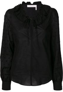 See By Chloé Frilled Blouse - Preto