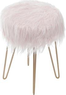 Puff Glamour- Rosa & Cobre- 40Xø28Cm- Or Designor Design