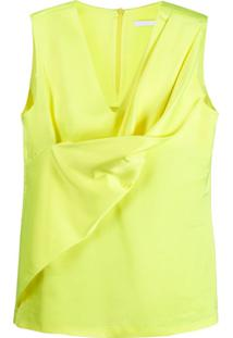 Helmut Lang Blusa Drapeada - Amarelo